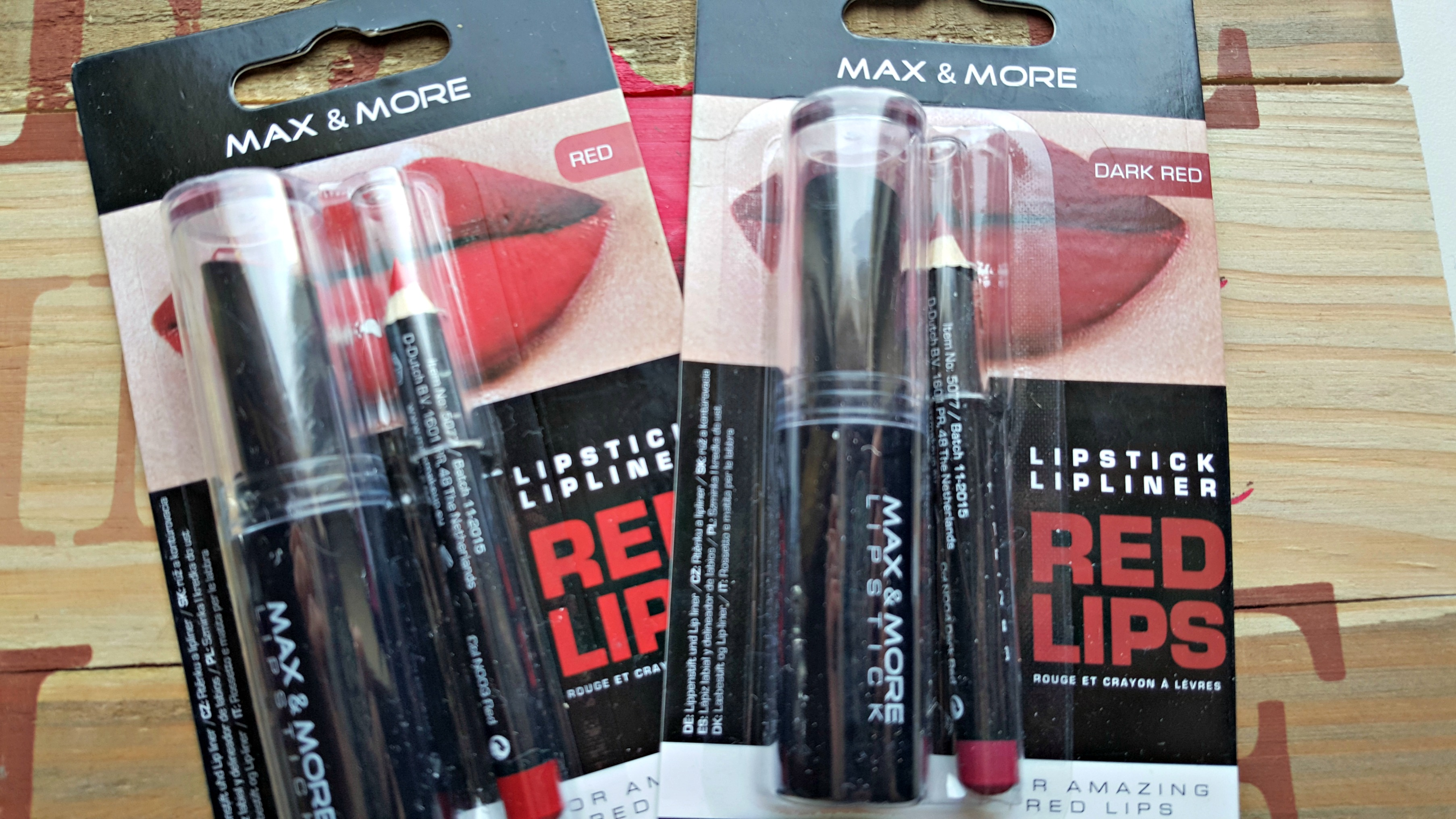 Review en max & more lipsticks